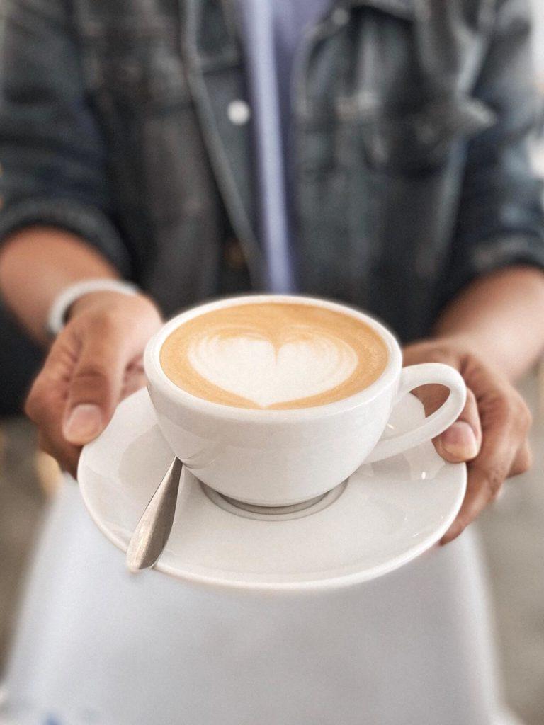 Herz im Kaffee Anleitung