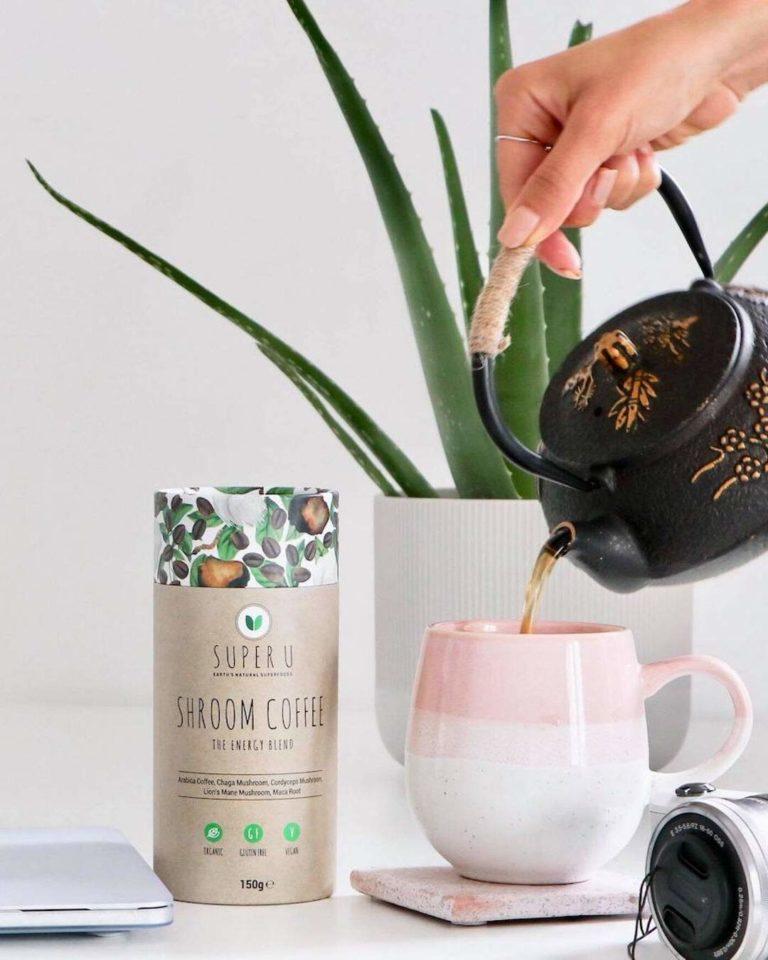 Veganer Chaga Kaffee I löslicher Kaffee I Pilzkaffee Getränk mit Chaga-Pilz Pulver I Guarana und Ginseng Extrakt I Chi-Cafe mit Reishi Vitalpilz Rei-Chi Kaffee 1 x 400g I 60 Tassen