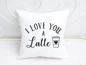 Kissen Coffee I love you a Latte