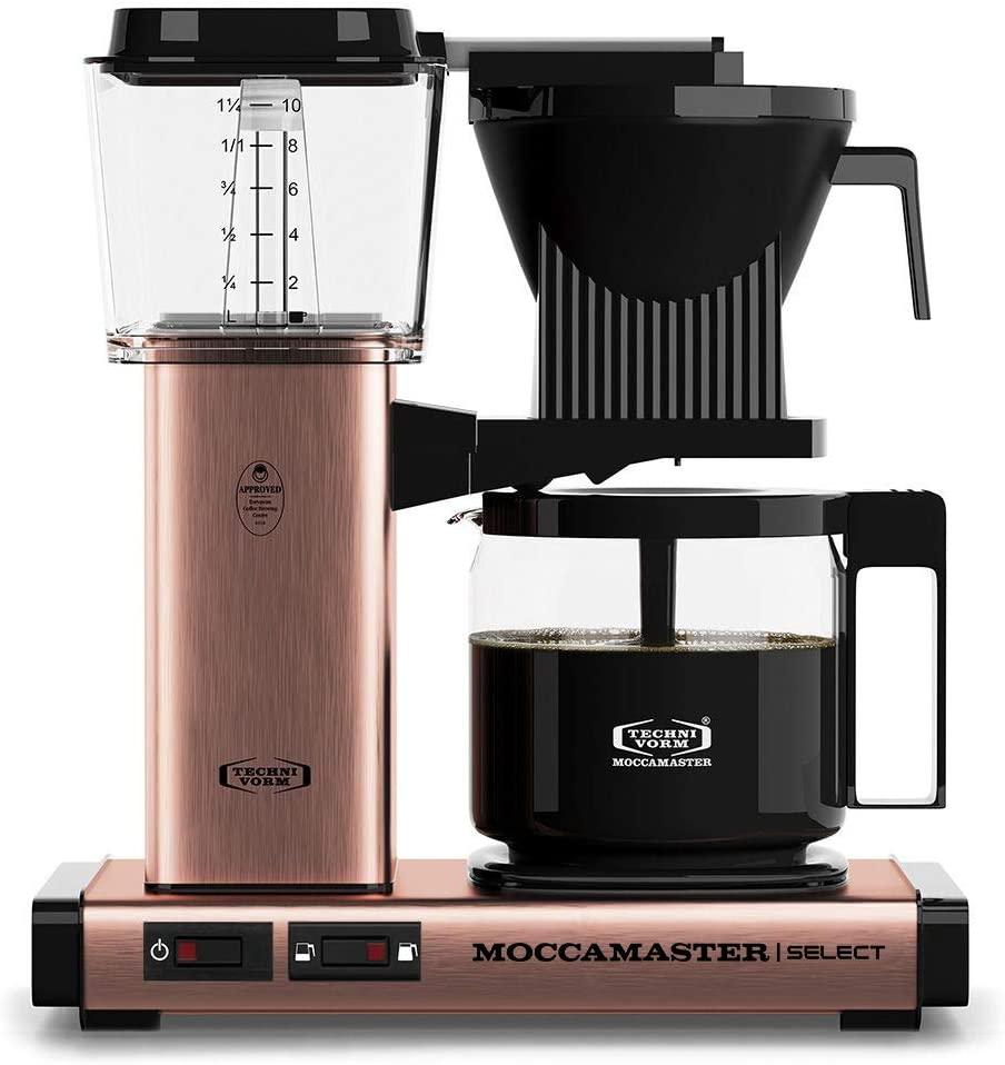 Moccamaster 53971 KBG Select Filterkaffeemaschine, Aluminum, 1.25 liters, Copper