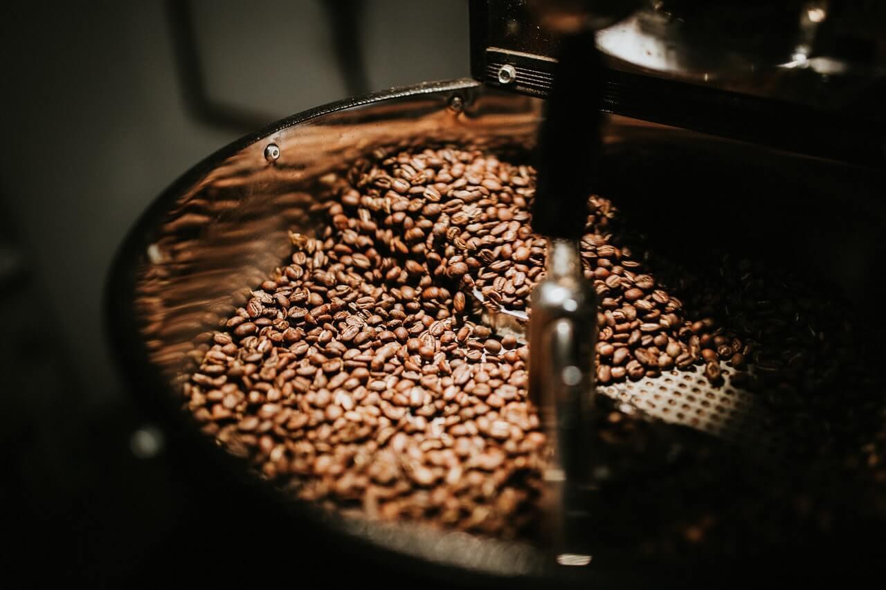 Schwarze Kaffeebohnen