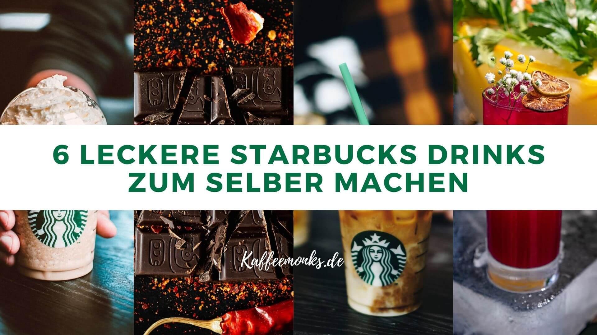 DIY STARBUCKS GETRÄNKE SELBER MACHEN